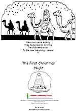 Colouring booklet of the story of the first Christmas night